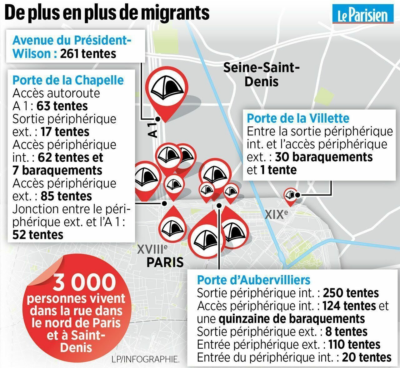 L'évacuation des camps de migrants à Paris et Saint-Denis en 10 photos